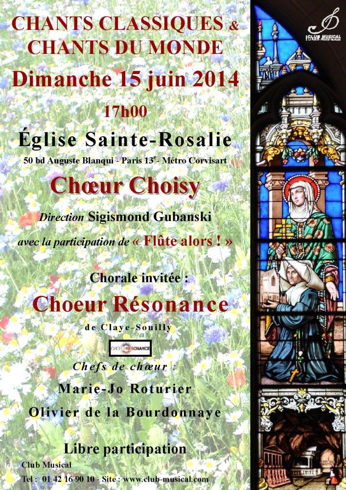 2014 06 15 Affiche du concert