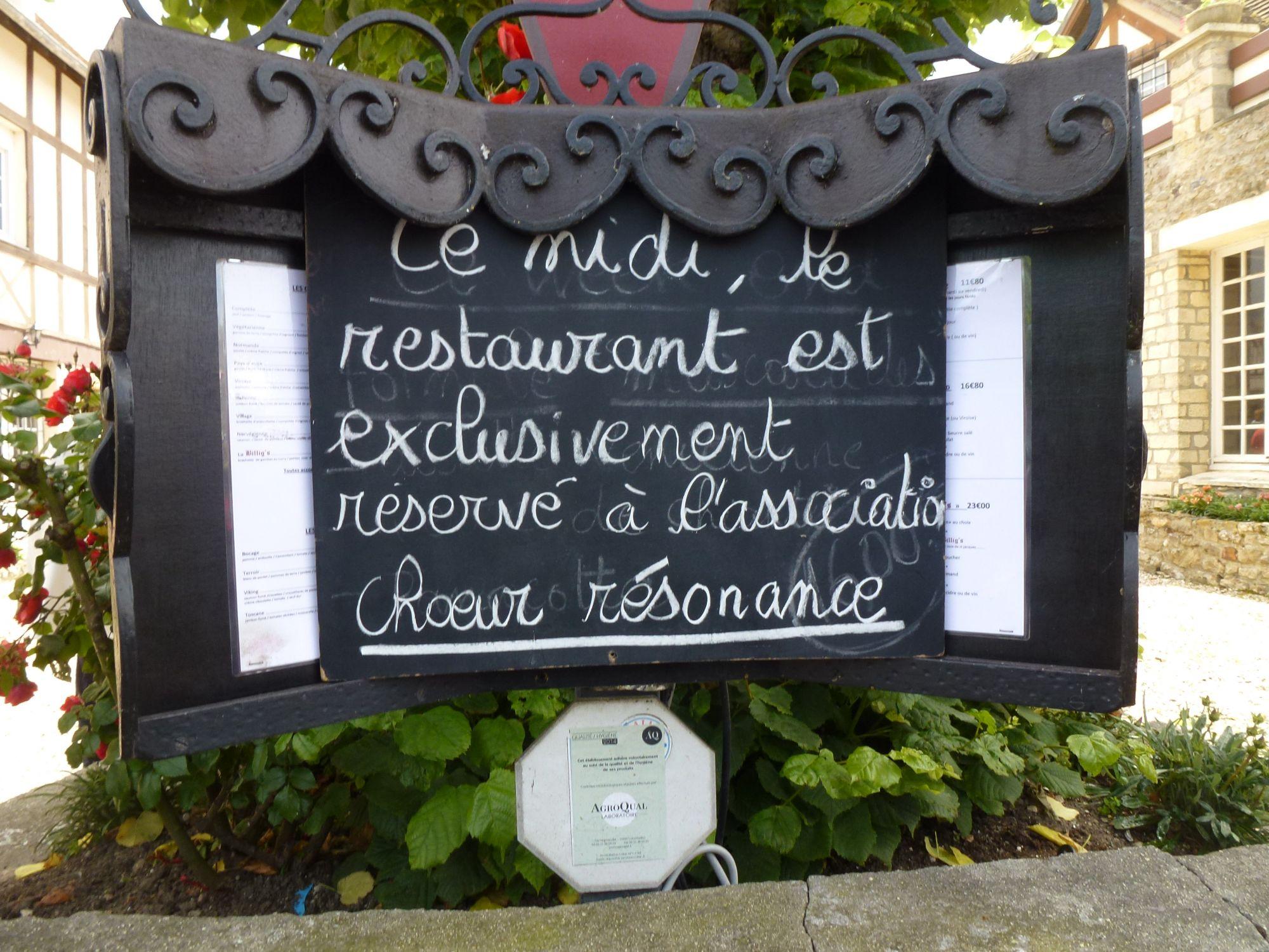 """Halte au restaurant """"le Billig's"""" à Dives"""