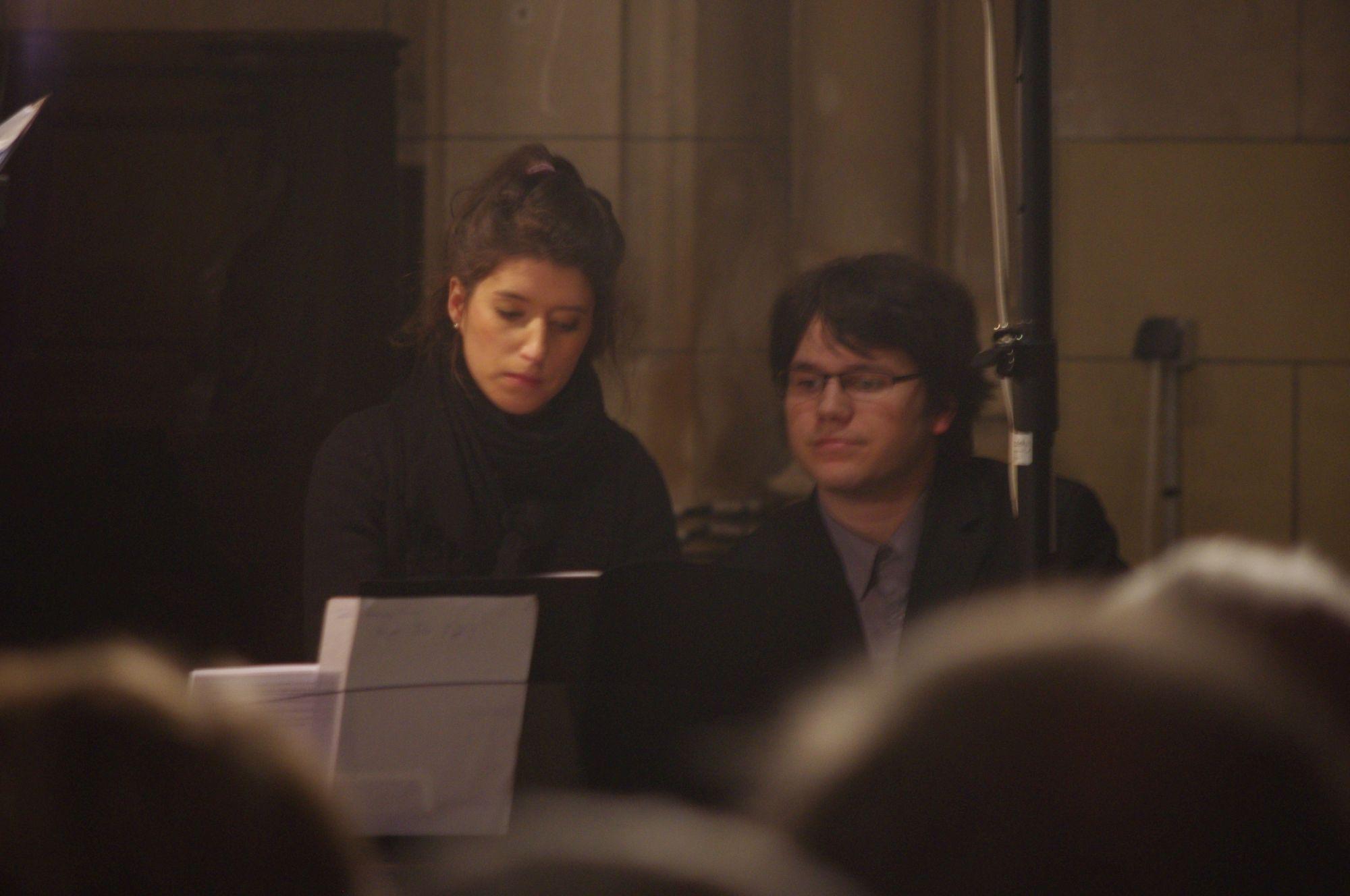 Auriane Sacoman-Marsal au clavier