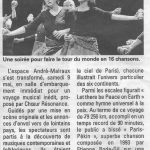 Article du journal La Marne