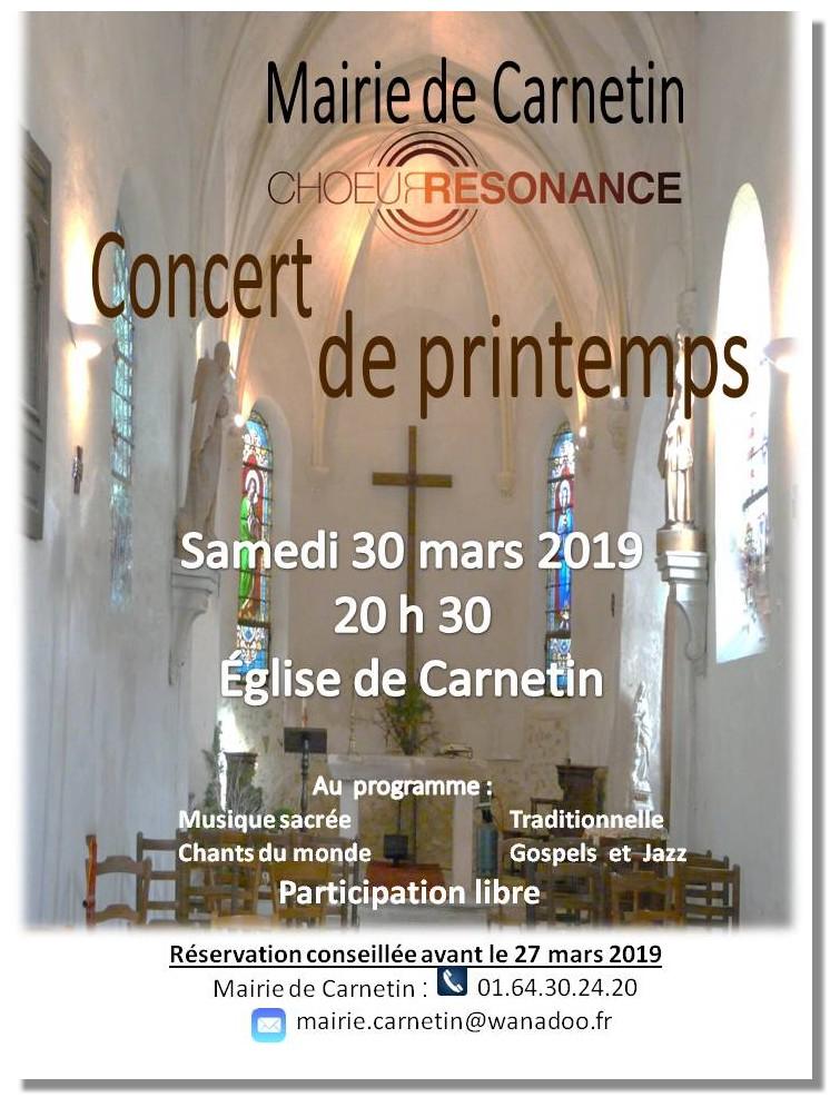 2019 03 30 Affiche du concert