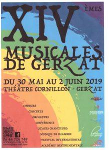 Participation aux XIVe MUSICALES DE GERZAT