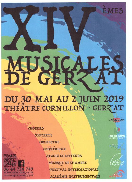 Affiche XIVèmes Musicales de Gerzat