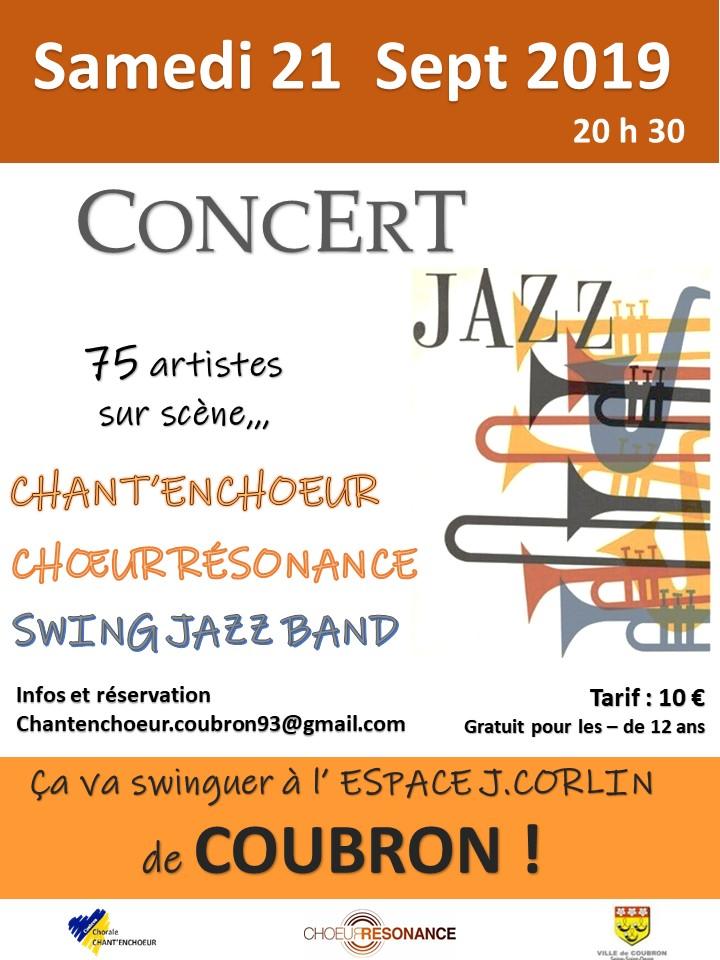 Affiche concert Jazz de Coubron