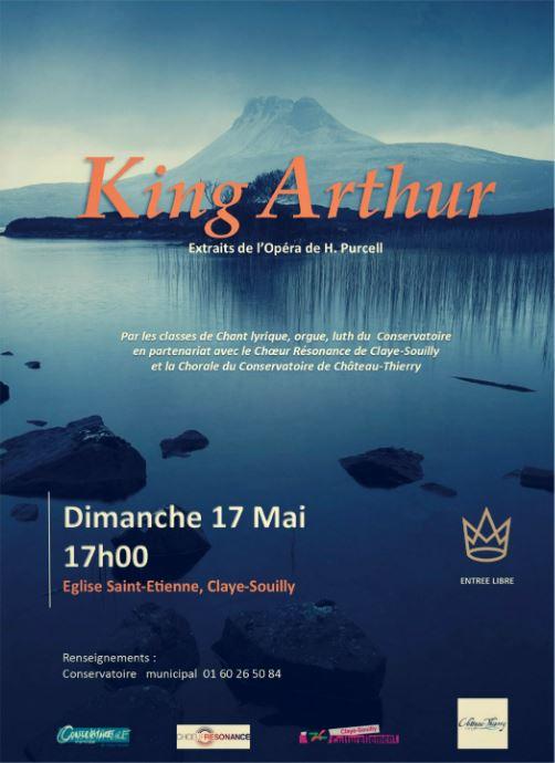 Affiche du concert King Arthur